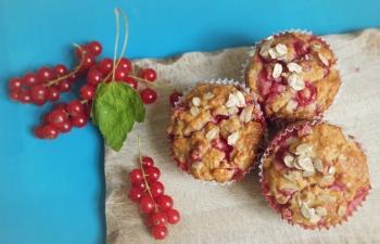 Johannisbeere Frühstücks-Muffins für gute Laune