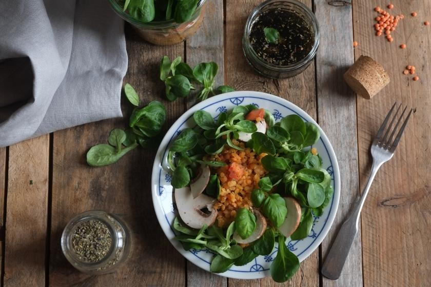 Rote Linsen Salat @ mehrpoweraufdauer.com